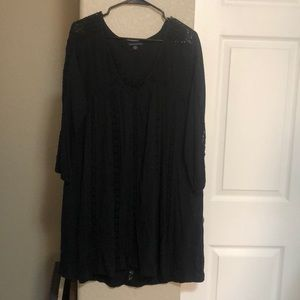 American Eagle black crochet dress